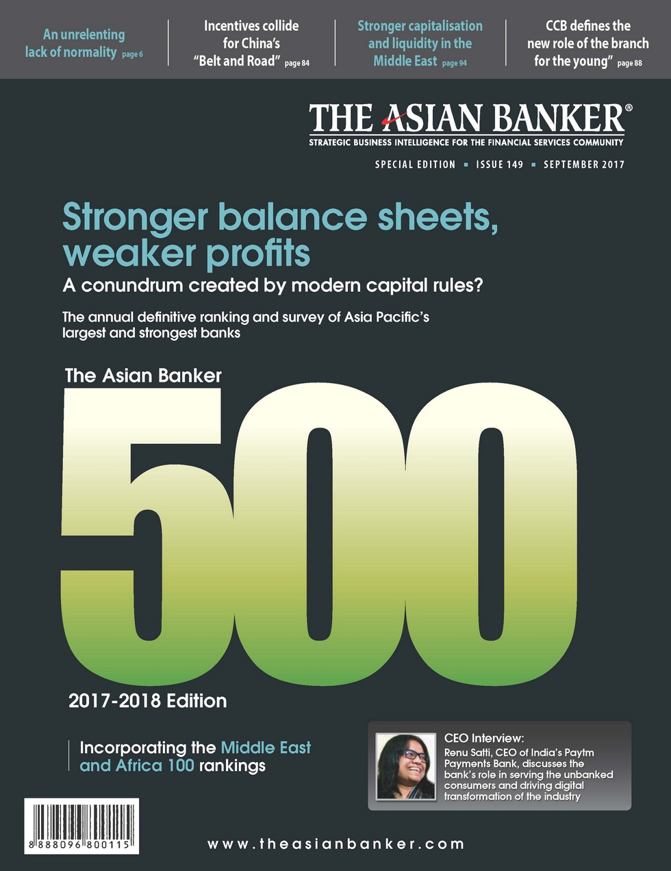 Preview, Issue: 149. The Asian Banker 500 2017-2018 Edition