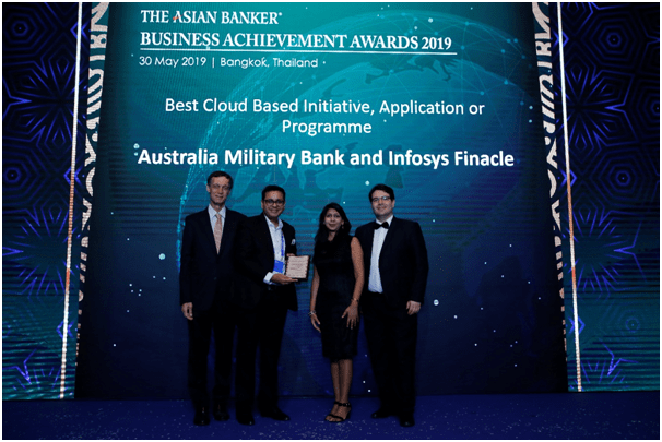Australia Military Bank and Infosys Finacle awarded the Best